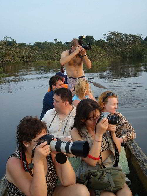 Cuyabeno Wildlife Reserve: Exploring the Amazon Rainforest, of Ecuador from a canoe is convenient and effective.