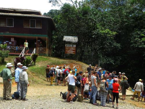 Visiting the Amazon in Ecuador: Cuyabeno Entry station for Amazon Visitors in Ecuador