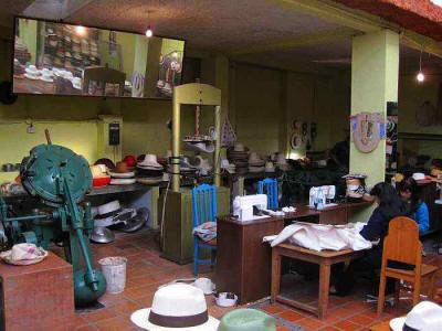 Panama hat museum and workshop Paredes Roldán. 35c6ecd1fb2