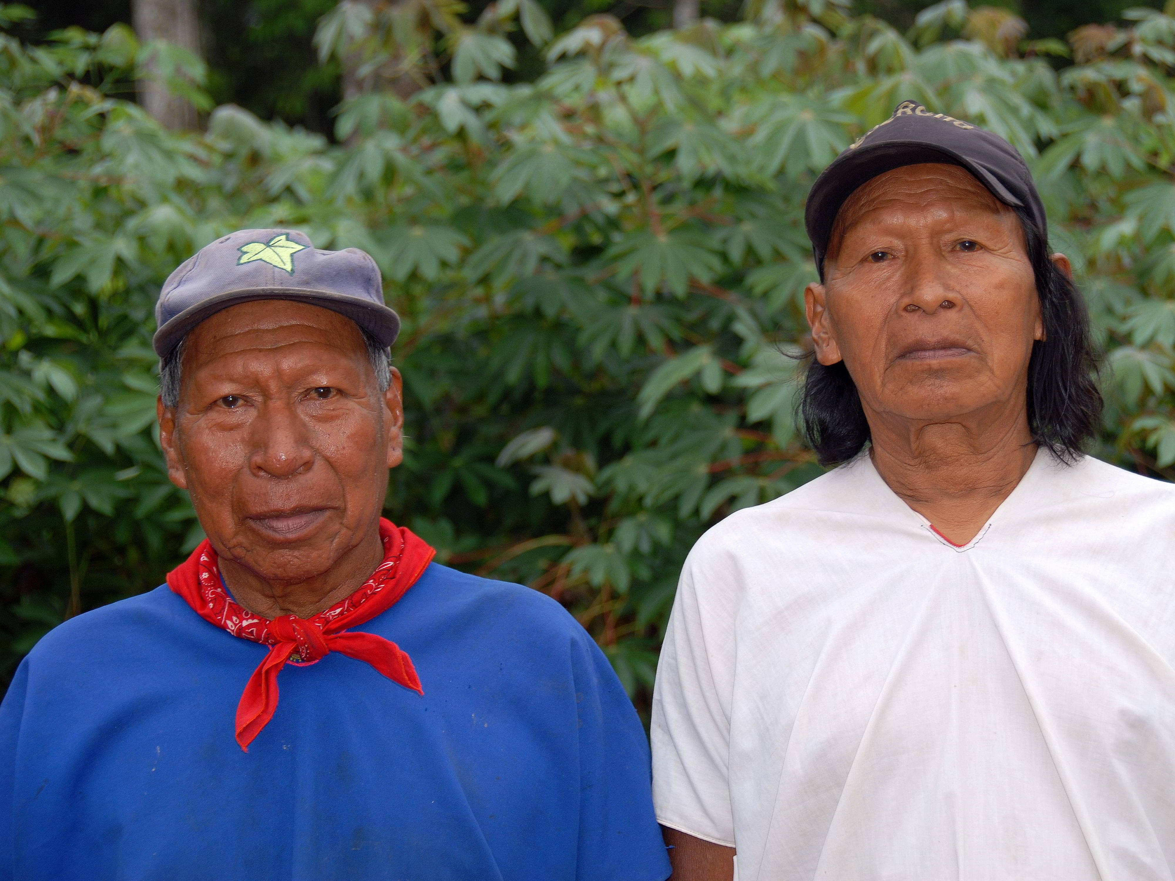 2f794228e60 ECUADOR ETHNIC GROUPS OF ECUADOR  Cofan men in traditional dress.
