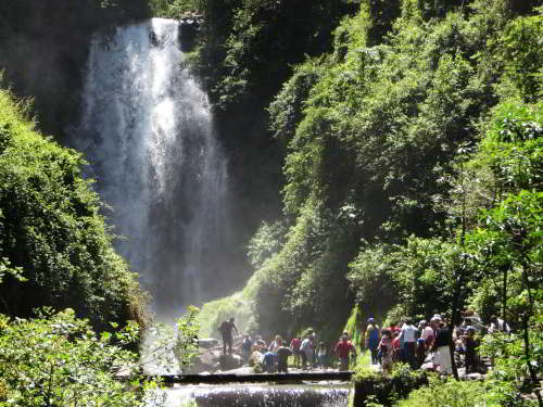 10 Best Nature Attractions in One Tour: Peguche Waterfalls near Otavalo.