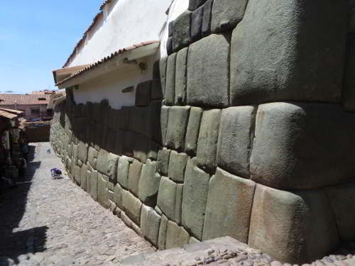 Inca wall in Cusco.